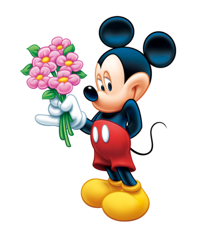 Flower Mickey Mouse Png Picture Wallpapers in Hand PNG Images