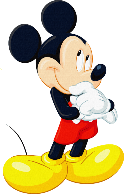 Thinking Mickey Mouse Picture HD PNG Images
