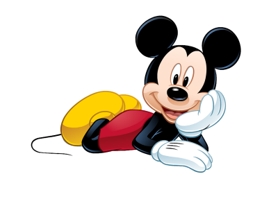 Reclining Mickey Mouse Background Wallpaper PNG Images