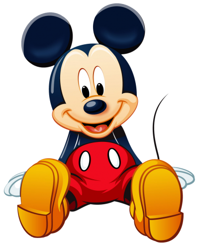 Sitting Baby Mickey Mouse Clipart HD Background PNG Images