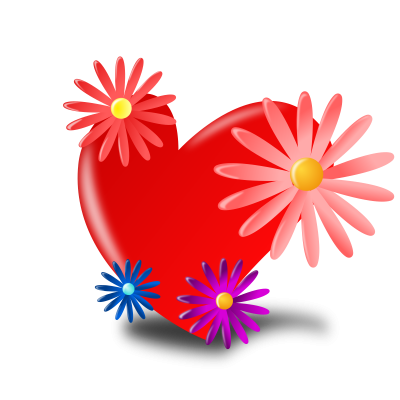 Heart, Flowers, Red, Mothers Day Icon Png PNG Images