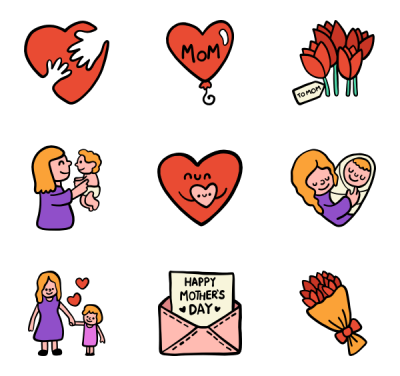 Mothers Day Icons Png