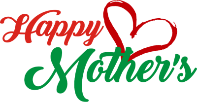 Red And Green Mothers Day Png Transparent PNG Images