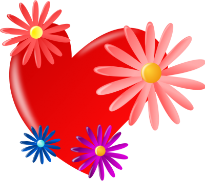 Red, Flower, Heart Mothers Day Pictures PNG Images