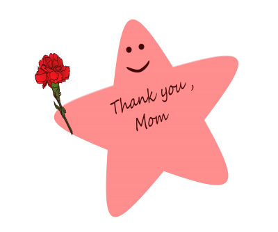 Star Pink Mothers Day Clipart