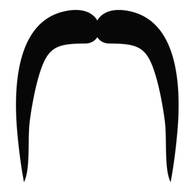 Straight Long Mustache Picture PNG Images