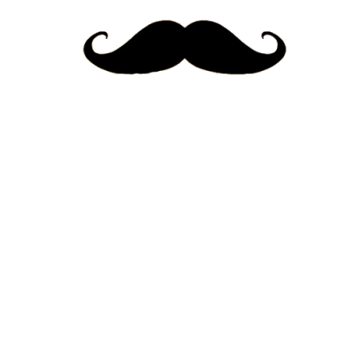 Curved Black Moustache PNG Images