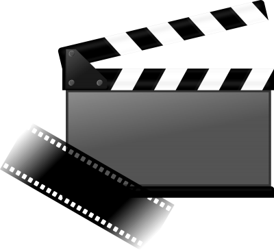 Black White Movie Transparent Background PNG Images