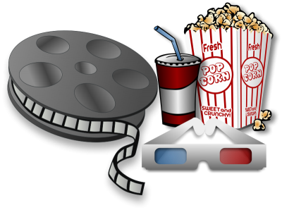 Popcorn And Drink Movie Png Strip PNG Images