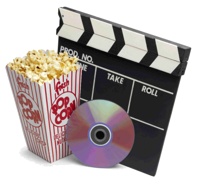 Popcorn And Real Dvd Movie Transparent Free PNG Images