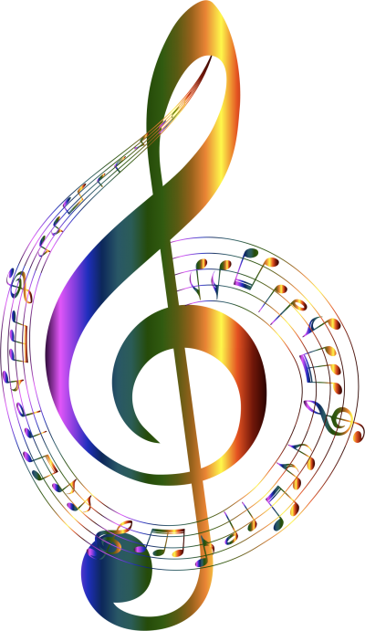 Chromatic Musical Notes Typography No Pictures PNG Images
