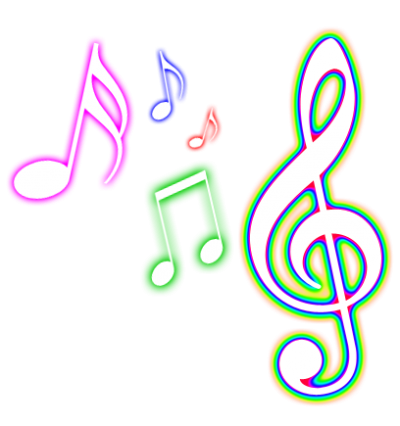 Colorful Musical Notes Png
