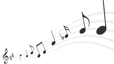 Dark New Music Notes Png PNG Images