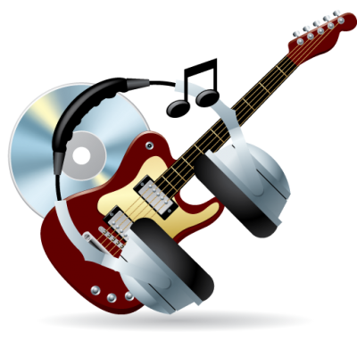 Guitar, Headphones, Cd, Music Icon Png