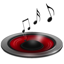 Music Diffused Red Icons Png