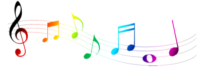 Colorful Music Note Png