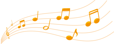 Gold, Colorful Musical Notes Png