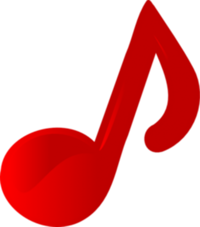 Music Note Red Images Clip Art