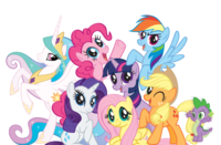 My Little Pony Colored Transparent Pictures