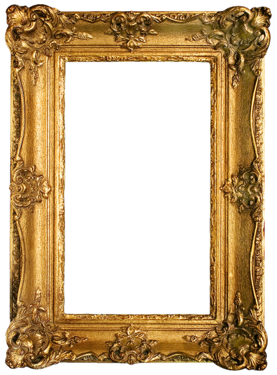 Rectangular Gold Plated Frame Transparent PNG Images