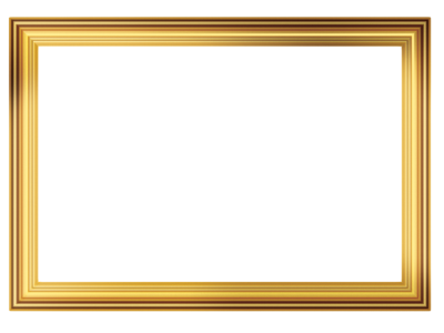 Gold Frame With Straight Lines PNG PNG Images