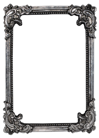 Gray Metal Frame Photo, Rectangular, Design, Decor PNG Images
