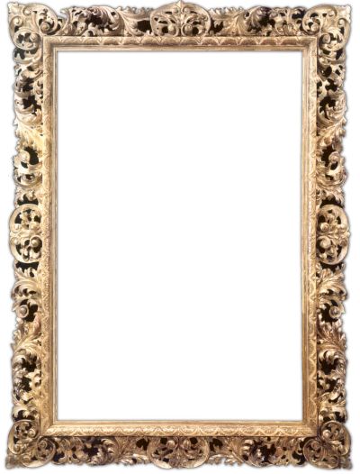 Gold Embroidered Frame HD Download PNG Images