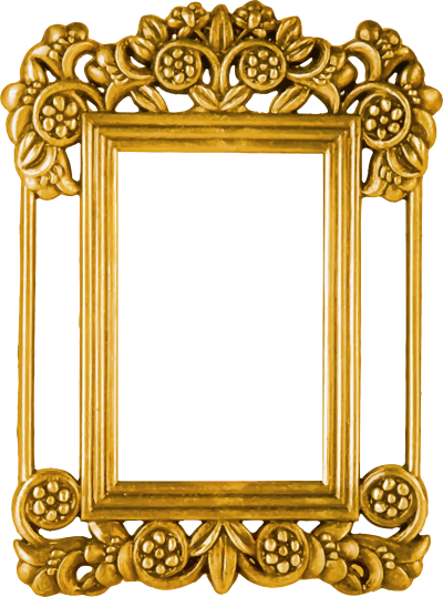 PNG Gold inlaid Large Frame, Photo Frame, Frames, Decor PNG Images