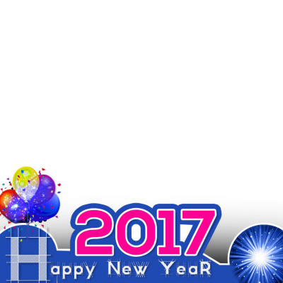 Blue Happy New Year 2017 Pictures PNG Images