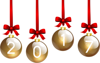 Boules, Gold, New Year 2017 Png PNG Images