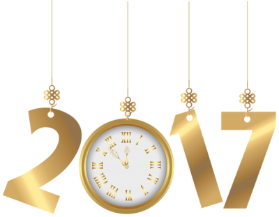 Clock, Schrift, 2017, Neujahr New Year 2017 Png PNG Images