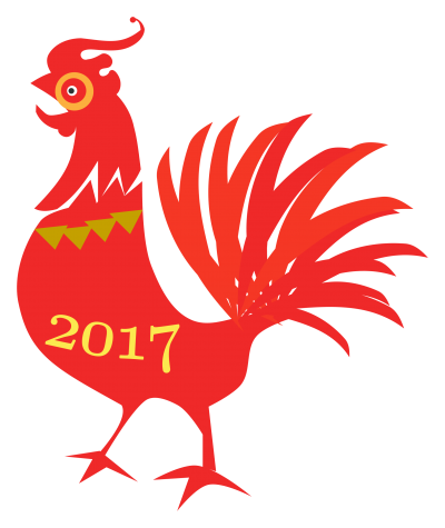 Cock, Red, Chinese New Year Clipart
