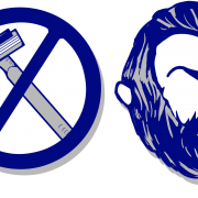 Blue No Shave Movember Mustache Pictures PNG Images
