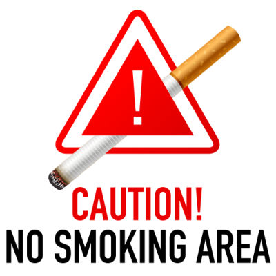 Caution No Smoking Area Symbol Png PNG Images