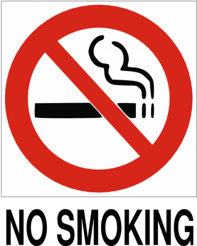 No Smoking With Text Clip Art PNG Images