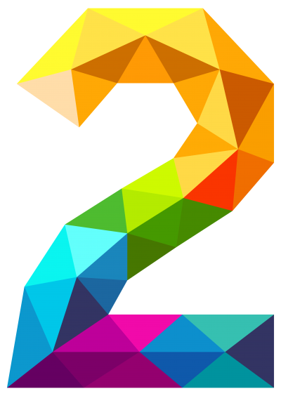 Colorful Crystal View Two Number, Numbers 2 Png images Free Download PNG Images