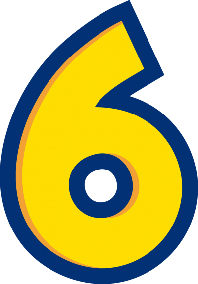 Drawn Number Six, Numbers images Download PNG Images