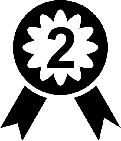 Medal With Number Two, Numbers 2 Png icon PNG Images