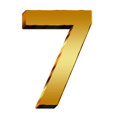 Quality Golden Number Seven 7 Png image PNG Images
