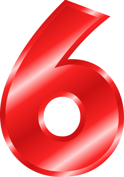 Red Number Six, Numbers 6 Png PNG Images