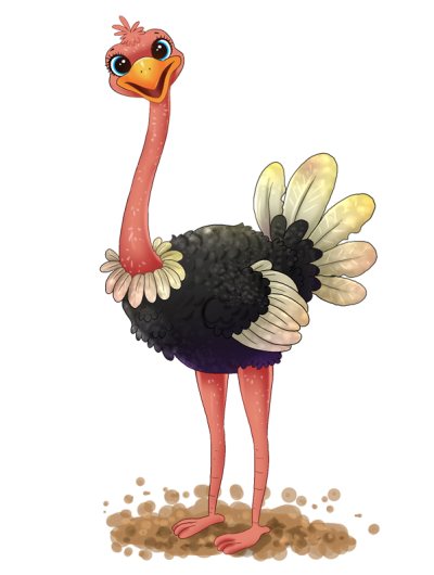 Beautiful Ostrich Clipart
