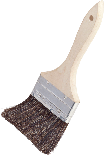 Old White Paint Type Brush Png PNG Images