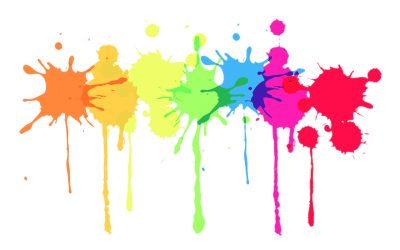 Colours Paint Splatter HD Image PNG Images