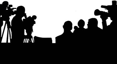 News Conference Paparazzi Silhouette Png PNG Images