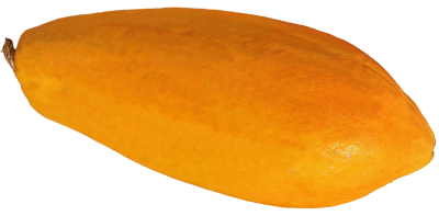 Single Papaya Transparent PNG Images
