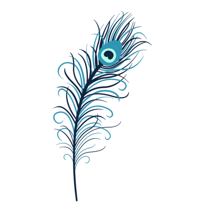 Peacock Feather Invite Design Images