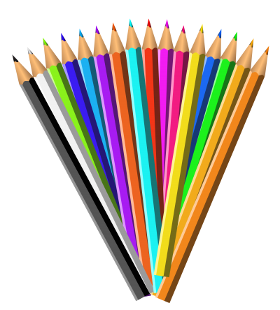 Colorful Painting Pencil Transparent Free PNG Images