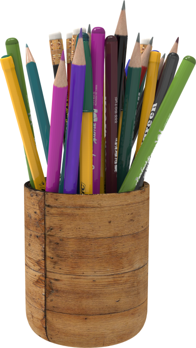 Pencil Holder With Pens Png Hd PNG Images