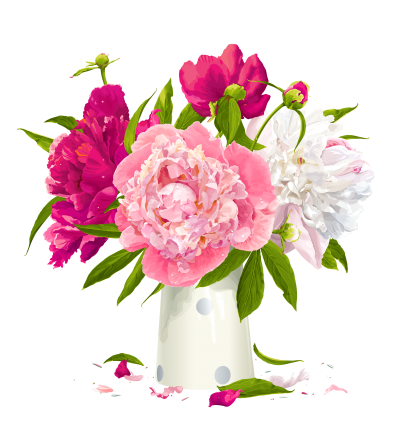 Vase Peony Free Transparent Png PNG Images