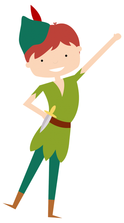 Peter Pan Silhouette Clipart Pic PNG Images